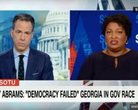 VIDEO: Jake Tapper Asks Stacey Abrams if Kemp Victory is 'Legitimate.' Her Response is Typical.