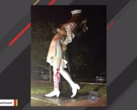 Famous WWII 'Kissing Sailor' Statue Gets Vandalized. Guess What Was Written On It?