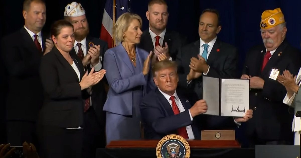 President Trump Signs Executive Order Cancelling Student Loan Debt For Disabled Veterans