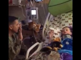 Soldiers From Fort Sill Swear-In Sick Boy Whose Dream Is To Be A Soldier